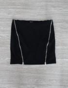 Spódnica mini z zamkami zamki zip Bershka XS