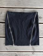 Spódnica mini z zamkami zamki zip Bershka XS...