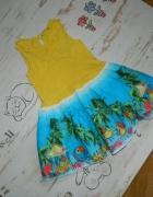 GEORGE cudna sukieneczka papugi tukany roz 110 116...