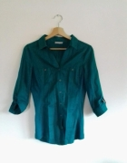 Szmaragdowa koszula bluzka Orsay S 36