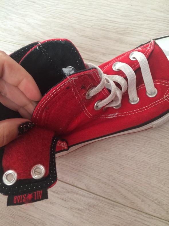 Converse all star czerwone na rzepy jak nowe 34 rozmiar w
