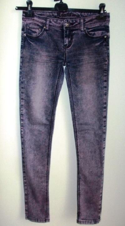 Spodnie rurki skinny jeansowe FISHBONE 36 38...