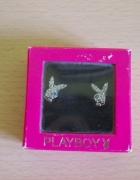 Kolczyki wkręty posrebrzane króliczek Playboy...