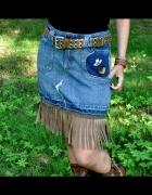 kowbojska spódnica z frędzlami
