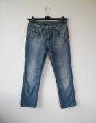 proste wytarte spodnie jeansy Esprit rozm S M 36 38