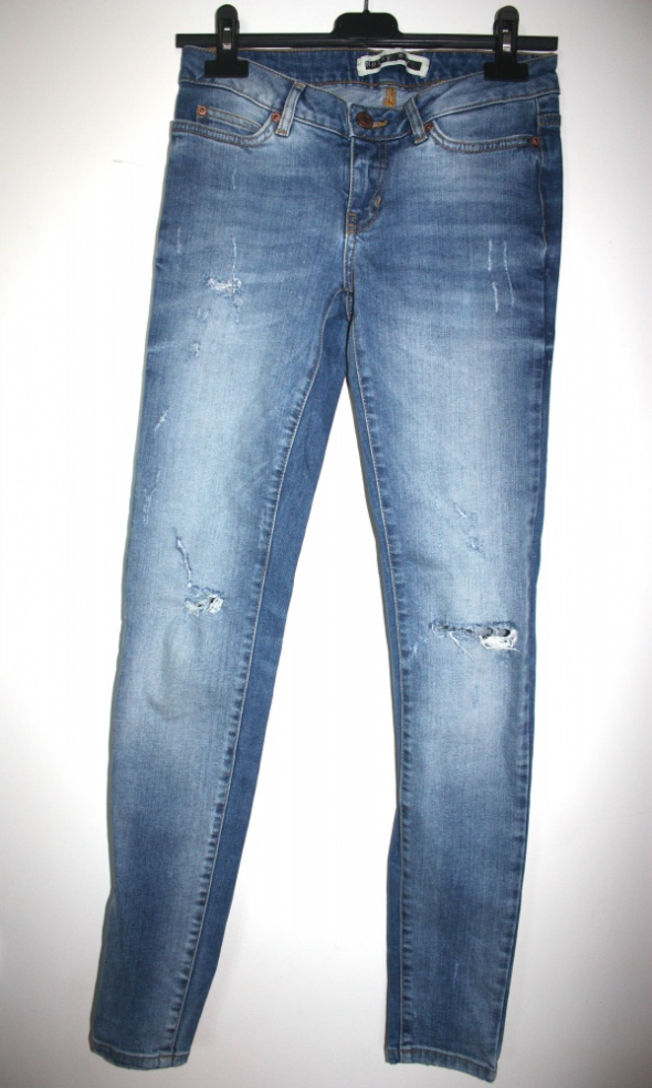 jeans Noisy May 34 36 dziury niski stan skinny fit...