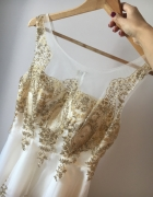 Piękna złota sukienka Nowa