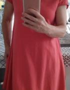 Czerwona sukienka bawełniana S XS