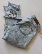 Spodnie jeansy z haftem s...