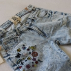 Spodnie jeansy z haftem s