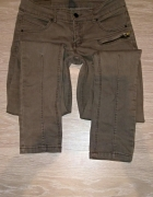 Siwe spodnie jeansy S M...