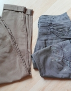 zestaw spodnie cygaretki chinosy bojówki haft 40 L