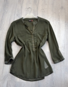 Koszula mgiełka khaki luźna bluzka militarna