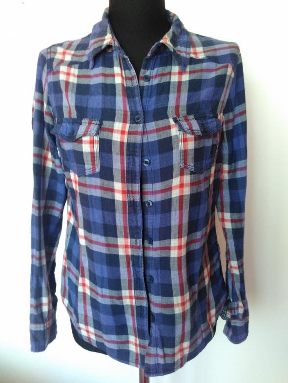 Flanelowa koszula w kratę rozmiar L