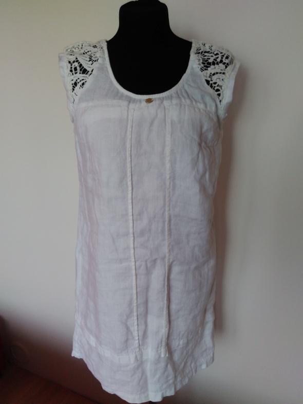 Nowa włoska lniana sukienka rozmiar 36
