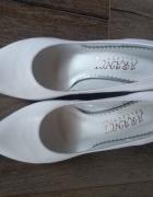 Białe buty ślubne skórzane Mega wygodne