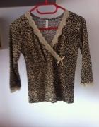 Piżama piżamka panterka koszulka XS S koronka M L