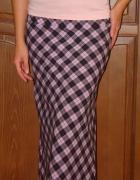 Długa spódnica w kratę 36 S