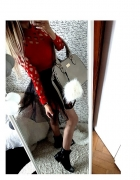 NEW Czerwona sukienka z czarnym tiulem CUDO 36 S