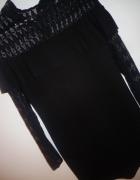czarna sukienka uniwersalny hiszpanka koronka