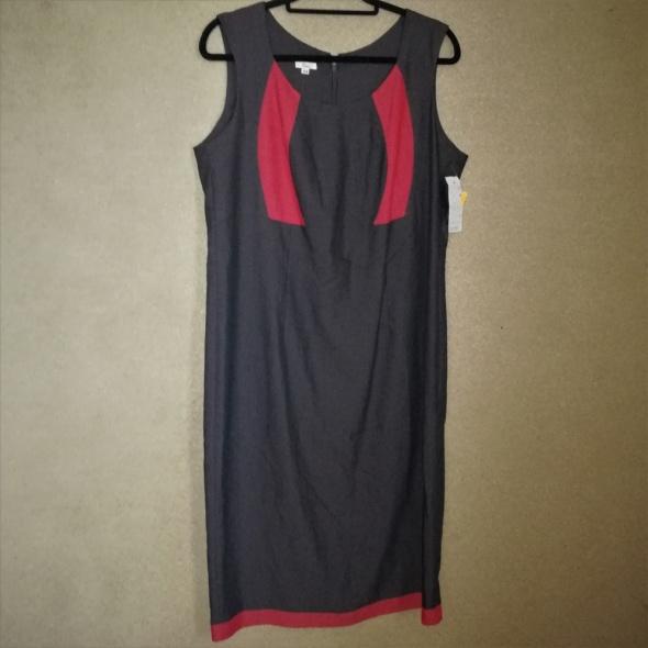 Suknie i sukienki Szara elegancka sukienka ołówkowa midi 44 46