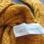 Stradivarius sweterek musztardowy żółty warkocz splot 38 M