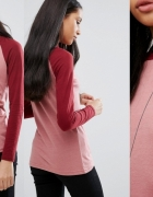 Sweter bejsbolówka bordowo różowy Brave Soul 38 M...