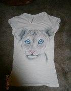 Śliczna bluzka Bershka tygrysek roz S