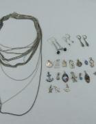 Sprzedam srebrną biżuterię ze zdjęć łańcuszki medaliki kolczyki