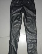 CALZEDONIA czarne skórzane legginsy S...
