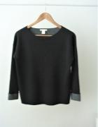 Szary sweterek oversize H&M basic...