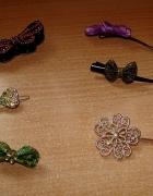 Nowe tanie spinki wsuwki kokardka kokardki motylek kwiatek PRIMARK atmosphere