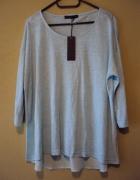 miętowa asymetreyczna bluzeczka