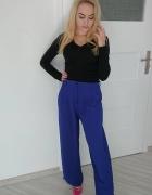 Eleganckie wizytowe spodnie kobaltowe hit