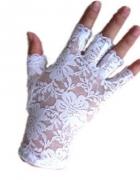 Rękawiczki Ślubne krótkie BIAŁE NOWE