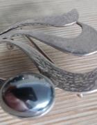 broszka Warmet Agat z hematytem srebro