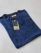 niebieska koszulka bawełniana s