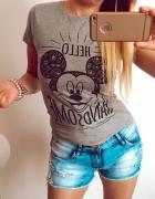 Szara bluzka T shirt mickey Disney S