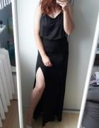 Czarna maxi długa spódnica