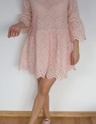sukienka ażurowa koronka