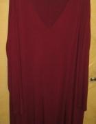 Bordowa sukienka ASOS CURVE w roz 54 56 okazja...