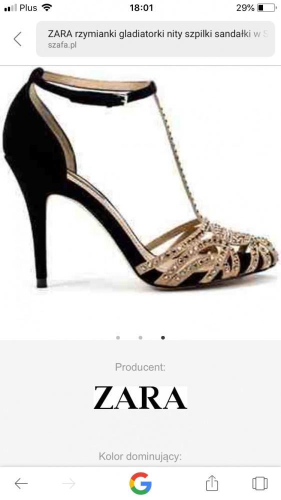 Szpilki Rzymianki Zara...
