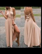 Maxi beżowa sukienka 10 sposobów na upiecie góry s m l