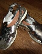 Srebrne sandałki 38 nowe...