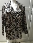 NOWA satynowa koszula we wzory zebra nadruk oversize print