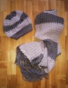 ciepły komplet czapka szalik