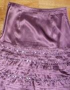 śliczna spódnica Camaieu jedwab cekiny 36 TANIO