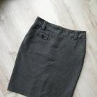 klasyczna szara spódnica midi ołówek Greenpoint rozm 40 L