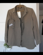 Zara nowa kurtka katana khaki naszywki