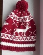 asos czapka zimowa z pomponem norweska wzory